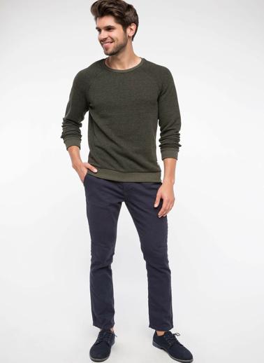 DeFacto Slim Fit Sweatshirt Haki